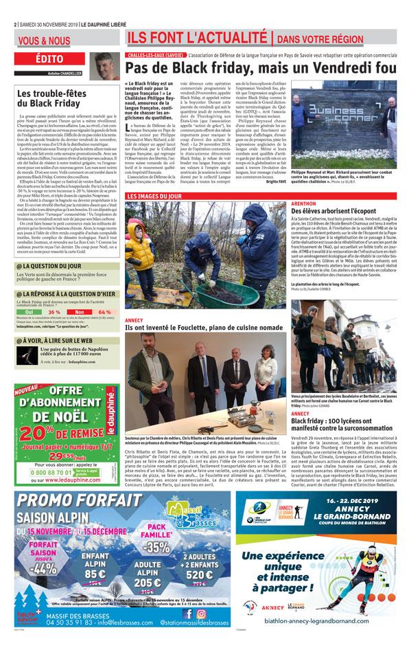 La presse locale met à l'honneur l'innovation du réchaud portable Fouclette