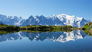 panorama de la chaîne du mont blanc ou a été inventé Fouclette, le réchaud nomade multifonctions
