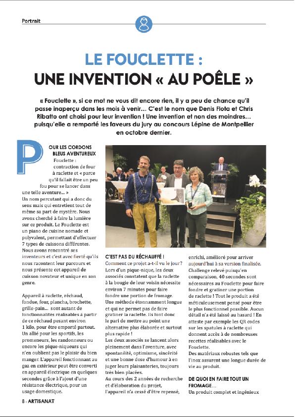 La CMA salue l'innovation du Fouclette le rechaud fabriqué dans les alpes