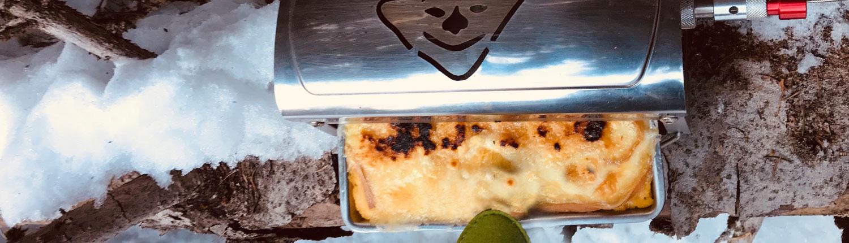 Gratinée de polenta cuisinée par Fouclette le réchaud multifonctions